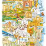 Cartina Puglia disegnata