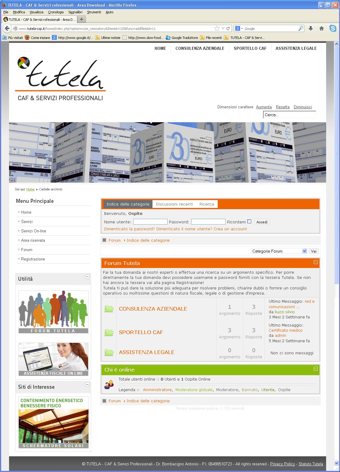 tutela-sito-forum